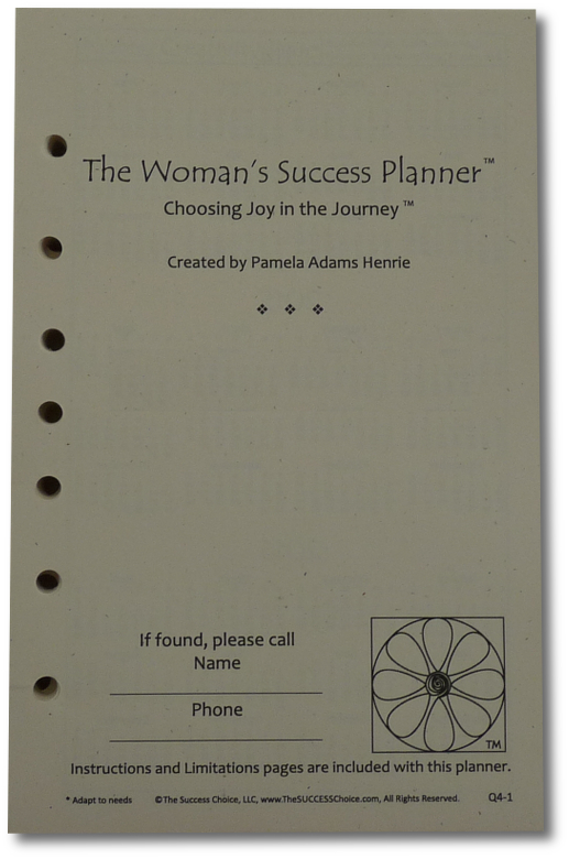 Year (Jan-Dec 2012) 7-Hole Looseleaf Planner -SHIPPING INCL. - Click Image to Close
